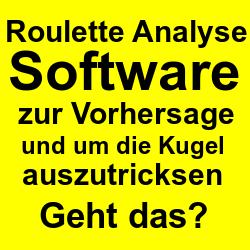 Roulette Analyse Software zur Vorhersage der Zahlen